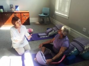 Kate and V restorative yoga