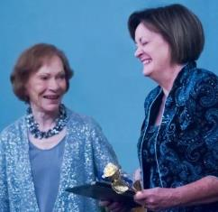 Eve Thomas and Rosalyn Carter